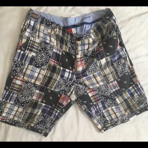 J.Crew men's shorts 32/33 patchwork style blue